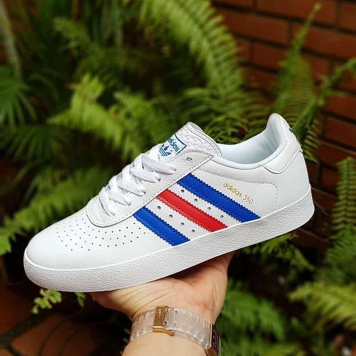Adidas 350 Unisex Blanc-Bleu-Rouge